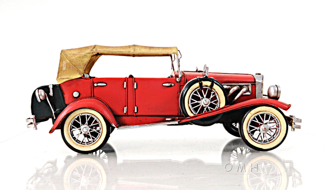1933 Red Duesenberg Metal Desk Top Car Model