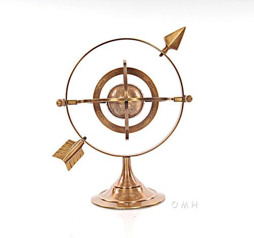 Brass Armillary Dial Sphere World Globe Table Decor