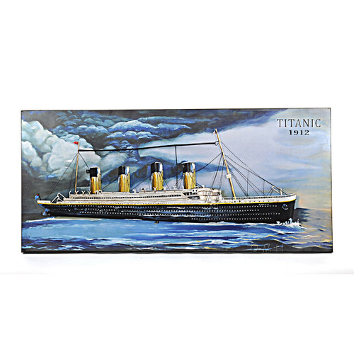 RMS Titanic Ocean Liner Metal Model Painting