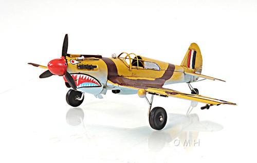 Curtiss 81A Hawk P-40B Warhawk Metal Desk Model