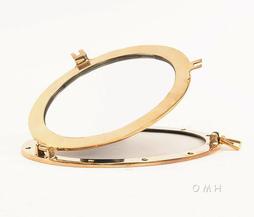 Porthole Mirror Solid Brass Round Nautical Decor