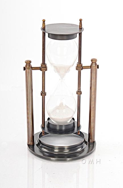 Brass Revolving Hourglass Stand Marine Sandglass Timer