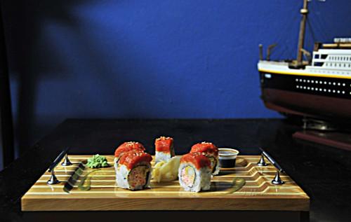 Christ Craft Sushi Tray Red Cedar Wood
