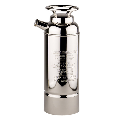 Fire Extinguisher Cocktail Shaker Nickel Brass Barware