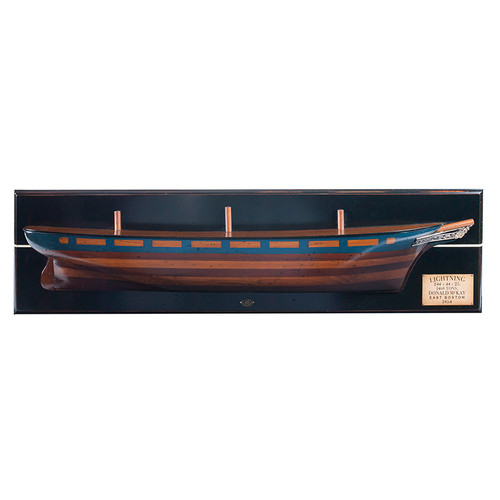 Lightning 1854 Clipper Ship Half Hull Model