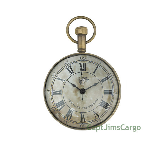 Pocket Desk Clock Brass Nautical Watch Decor