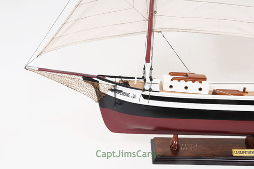 Gaspesienne Boat Wooden Schooner Model Canadian Sailboat