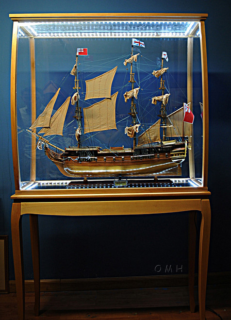 Tall Ship Model Display Case Cabinet LED