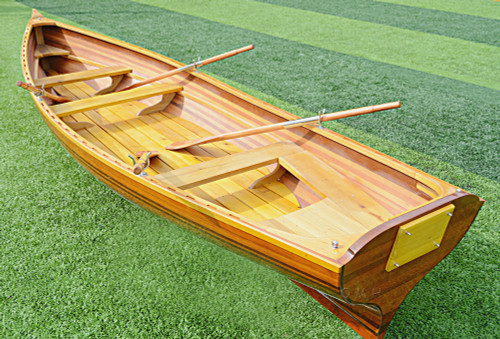 Boston Whitehall Rowboat Cedar Wood Strip Tender