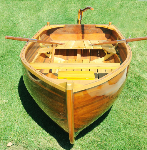 Cedar Rowboat Dingy 9.87' Wood Strip Built Gloss Finish Tender