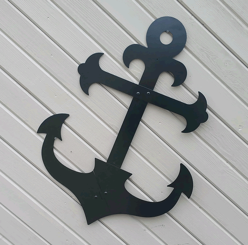 Ships Metal Anchor Outdoor Wall Hanging Decor
