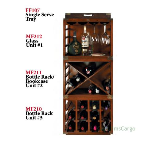Bottle Glass Rack Home Bar Stacking Pub