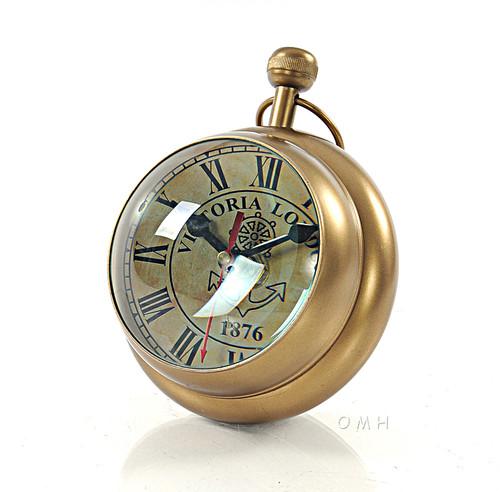 Desk Top Clock Paper Weight Nautical Decor