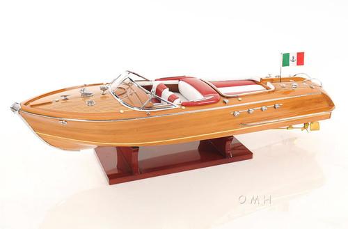 "Large Riva Aquarama Speed Boat Wooden Scale Model 35"" Runabout - CaptJimsCargo"