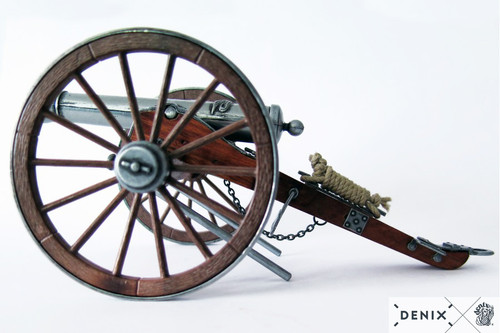 "Civil War Cannon 12 Pounder Metal Built Model 9.8"" USA 1857 Artillery"