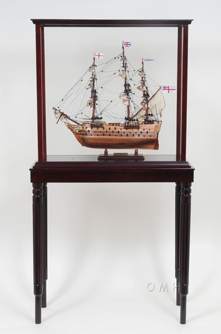 Sailboat Model Display Case With Legs  Stand