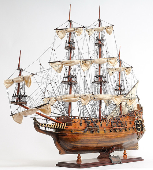 Fairfax Royal Navy Wooden Tall Ship Model