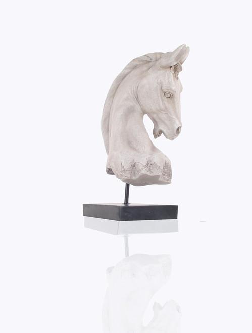 White Horse Head Bust Figurine Table Centerpiece Decor