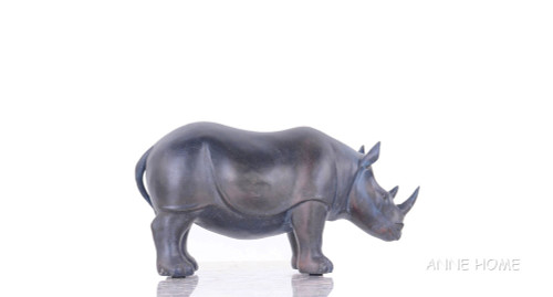 Rhinoceros Figurine Statue African Safari Living Room Decor