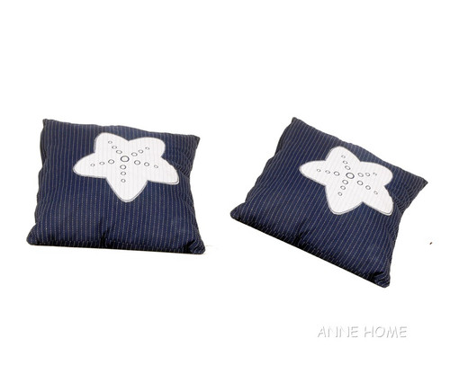 Throw Pillows Navy Blue White Starfish Beach House