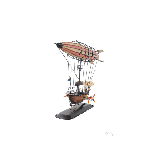Steampunk Airship 3D Model Blimp Balloon Zeppelin