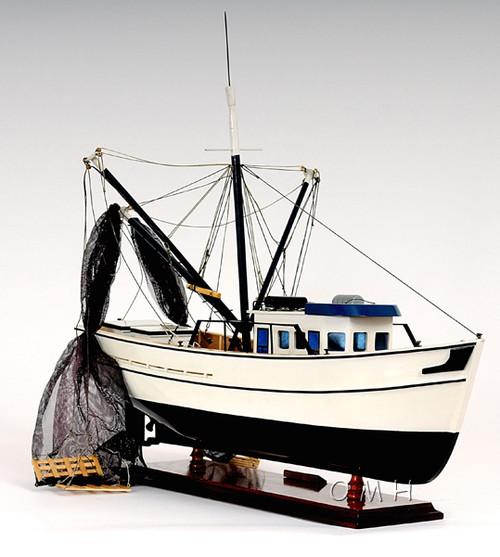 Gulf Shrimp Trawler Boat Wooden Fishing Model