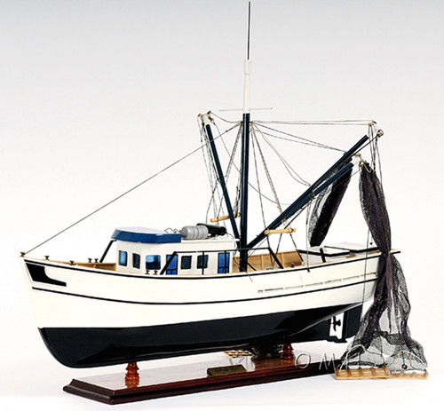 Gulf Shrimp Trawler Louisiana Work Boat Model
