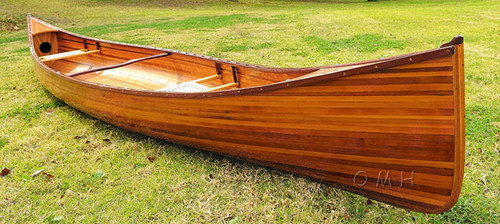 Cedar Wood Strip Built Canoe Without Ribs