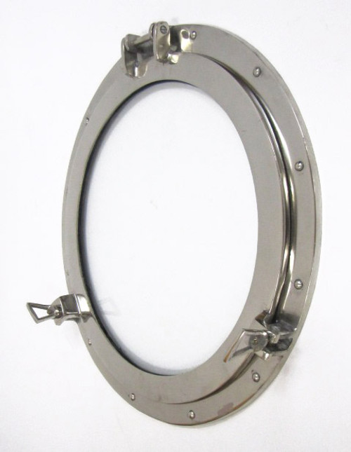Aluminum Chrome Finish Ships Porthole Glass Window