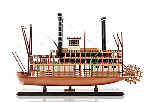 King Of Mississippi Riverboat Steamboat Wood Model