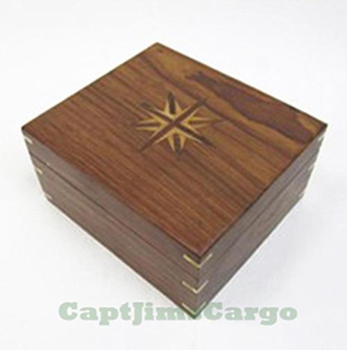 Brass Kelvin Hughes Sextant Wooden Case Nautical Decor