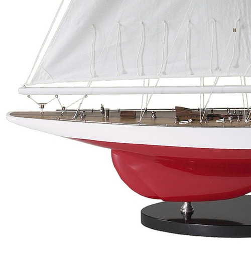 1937 J Boat Wooden Model Decorative Yacht