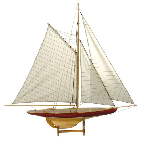 1895 Defender Pond Yacht Sail Model Sailboat