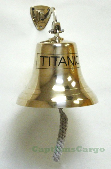 TITANIC Solid Brass Ships Bell Wall Decor