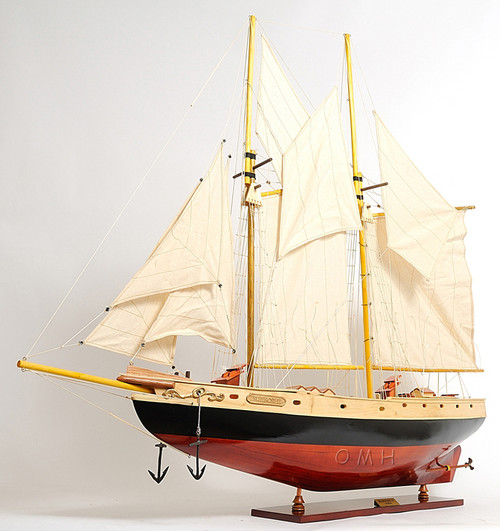 Schooner Bluenose II Wooden Ship Model Sailboat