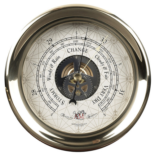 Brass Ships Captain's Barometer Wall Mantle Desk