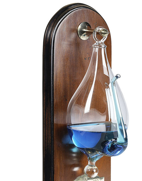 Storm Glass Wooden Wall Plaque Barometer Instrument