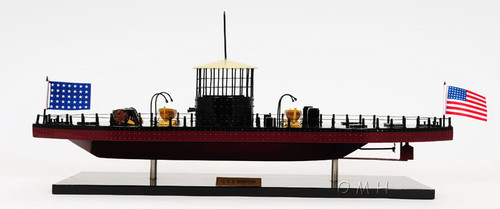 USS Monitor Civil War Ironclad Wooden Model