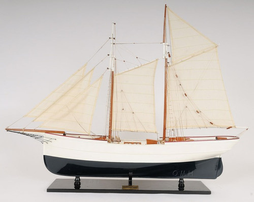 Schooner Wander Bird Wooden Ship Model Sailboat