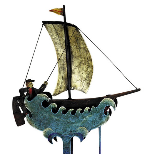 Sky Hook Sailboat Tetter Tin Balance Toy