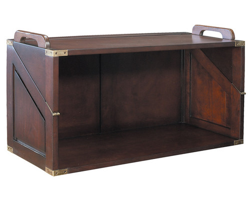 Campaign Style Stacking Unit Desk Bookcase Furniture
