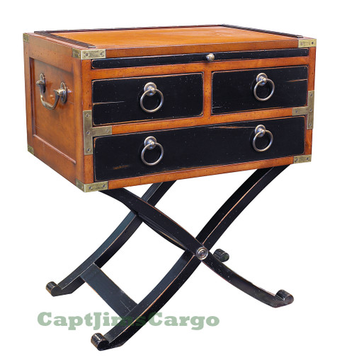Military Bombay Box End Table Authentic Models