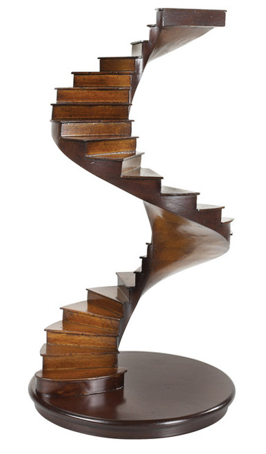 Spiral Stairs Architectural 3D Wooden Model Staircase