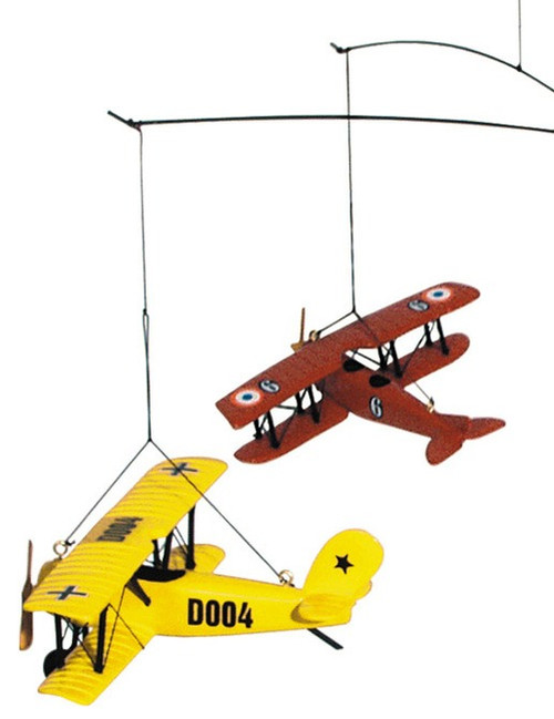 1920 Biplane Seaplane Hanging Airplane Flight Mobile