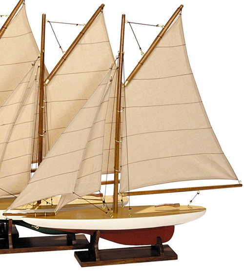 Nautical Mini Pond Yachts Wooden Model Sailboats
