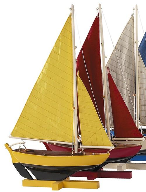 Dinghy Sunset Sailers Set of 4 Model