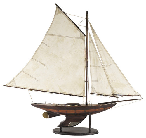 Yacht Ironsides Wooden Model Sailboat  Authentic Models