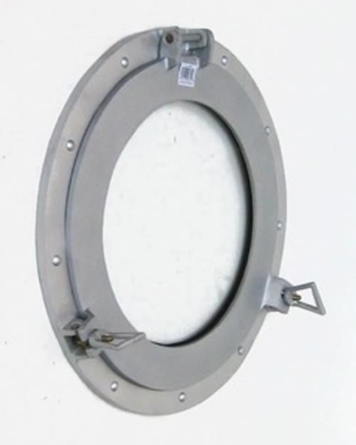 Aluminum Finish Porthole Window Glass Round Nautical