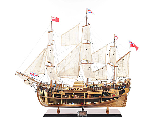 HMS Bark Endeavour Cutaway Tall Ship Model