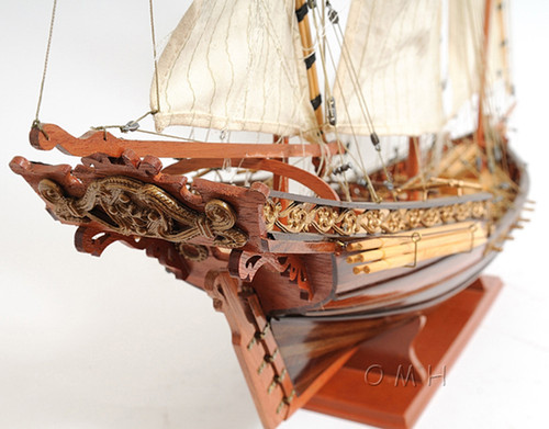 Corsair Barbary Pirate Xebec Galley Model Mediterranean